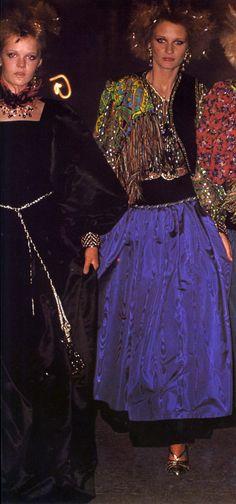 Photo Jean Jacques Bugat. Yves Saint Laurent Vogue Italia 1976