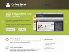 Coffee Break is a professional theme built specifically to showcase your business, services or products. Heavily influenced by our recent WooThemes re-design, and packed with loads of options, you have complete control over what pages display on the home page.