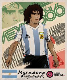 Stickers Brazil 2014: Diego Maradona by akyanyme.deviantart.com