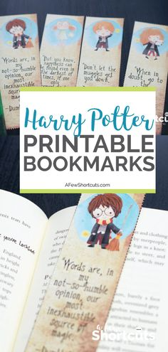 Harry, Ron, Hermione, and Dobby are all here! Go now to download these Free Harry Potter Printable Bookmarks for your next Potter Marathon.