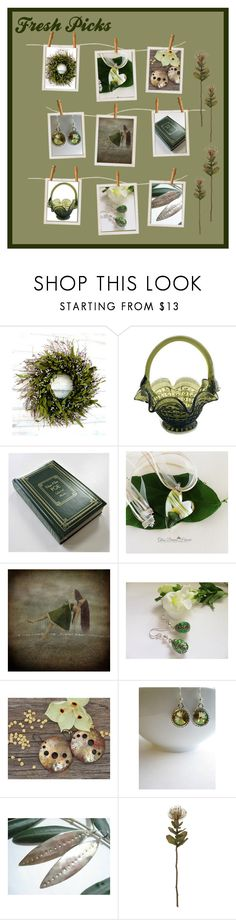 """Fresh Picks"" by inspiredbyten ❤ liked on Polyvore featuring Fenton, Fabergé, Crate and Barrel and vintage"