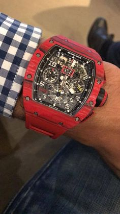 [Richard Mille] Wanted to share this RM 011 Red Quartz with you guys! What are your thoughts on this Richard Mille? Diesel Watches For Men, Luxury Watches For Men, Richard Mille, Lux Watches, Fashion Watches, Amazing Watches, Cool Watches, Audemars Piguet, Patek Philippe