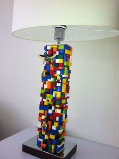 Look at these amazing Lego lamps.... Thank you Chelsom lighting and Zoffany design studio for creating such a fab feature for Philips Lego room!