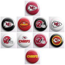 A set of 10 (ten) pinback buttons featuring the Kansas City Chiefs. Kansas City Chiefs Football, Kansas City Royals, Nfl Football, Cubs Team, Light Up Bottles, American Flag Stars, Rainbow Star, Pinback Buttons, Washington Redskins