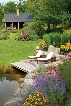 Decor Pools a Blade of Grass Landscape Design and Maintenance in Wayland MA Boston Design Guide Read Lake Landscaping, Landscaping Ideas, Backyard Ideas, Hydrangea Landscaping, Inexpensive Landscaping, Privacy Landscaping, Backyard Patio, Patio Ideas, Farm Pond