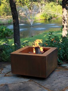 Fire Pit Grate, Metal Fire Pit, Wood Burning Fire Pit, Diy Fire Pit, Copper Fire Pit, Garden Fire Pit, Fire Pit Backyard, Backyard Bbq, Backyard Ideas
