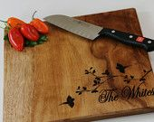 Personalized Engraved Cutting Board- Wedding Gift, Housewarming Gift, Anniversary Gifts