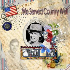 We Served Country Well - theStudio Gallery  July Color Challenge hosted by #ADBDesigns  using My Country Mini by ADBDesigns (matches My Country Collection)
