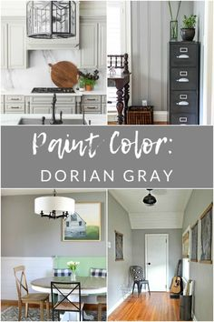 Come see why Sherwin Williams Dorian Gray is one of my favorite gray paint colors for just about any space in your home! A true, warm, gray paint. Good Living Room Colors, Dining Room Paint Colors, Room Wall Colors, Paint Colors For Home, Warm Gray Paint, Best Gray Paint Color, Light Gray Paint, Gray Color, Neutral Paint