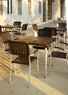 Table Maestrale 90 #cafeideas #nardi #outdoorfurniture #italianfurniture