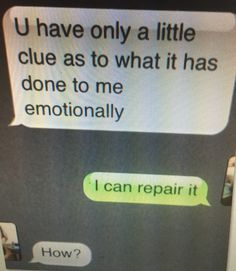 Repair it when you bleed