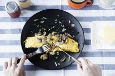 4F COOKING HOME: 犒賞一週辛勞的培根蘑菇歐姆蛋 Bacon mushroom omelette