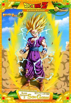 Dragon Ball Z - Son Gohan Lineart By ~Raykugen & Colour By Card Design By & ~dbkaifa. Dragon Ball Z - Son Gohan Dragon Ball Gt, Geeks, Kai, Z Cards, Desenhos Cartoon Network, Kid Goku, Pikachu, Dbz Characters, Anime