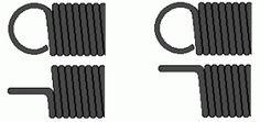 Tension springs with end fittings called german loops.
