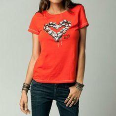 $22.50 awesome Fox Racing Breaker Womens Short Sleeve T-Shirt Orange Flame XS