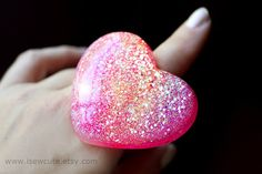 Huge Ring Statement Ring Chunky Ring Huge Heart Ring by isewcute