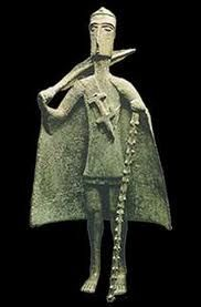 "Nuragic votive figurine - ""Tribal chief"" Bronzes of the Nuragic age National Archeological Museum - Cagliari"