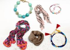 What type of accessories dominate your wardrobe? A. Pearls and simple chain jewelry B. The latest fashion scarf C. Cuff bracelets and other angular statement jewelry D. It's a mix. E. Exotic print scarves, wood and shell jewelry F. Large hoop earrings, studded jewelry, cool sunglasses #TypeOfAccessories #LatestFashionScarf #PrintScarves #LargeHoopEarrings #StatementJewelry