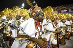 The carnival usually peaks on Sunday and Monday nights with competing samba parades famous for their choreography and extraordinary costumes