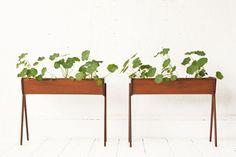 Danish Modern Teak Planters by OtherTimesVintage on Etsy