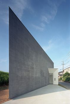 Riverbank House in Kikugawa, Japan by Atsushi and Mayumi Kawamoto.  This plays with the whole idea of house: feel the shifting perspective.