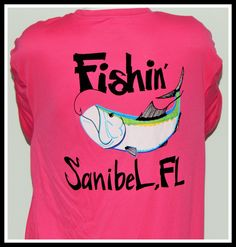 UPF 50 Dri Fit Long Sleeve Performance Shirt Fishin' Sanibel, FL Tarpon
