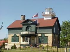 1853 Old Michigan Lighthouse in Michigan City, Indiana.  Served from 1853