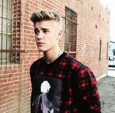 Imagine Justin standing outside you house like this to pick you up to go to school