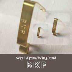 Wingband/penanda ayam adalah sarana atau alat untuk menandai ayam supaya mudah di kenali Bahan terbuat dari kuningan Tie Clip, Accessories, Tie Pin, Ornament