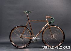 """bikeplanet: """"Peacock Groove Copper plated Track Bike by urbanvelo.org """""""