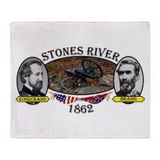 Stones River Throw Blanket  http://www.cafepress.com/Civil_War_1861_to_1865  http://www.cafepress.com/CivilWar1861to1865Part2  http://www.cafepress.com/USCivilWarColoredApparel