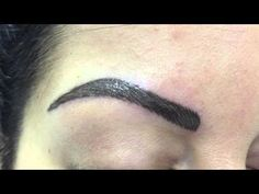 Permanent make-up. Brows - YouTube