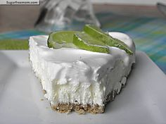 Sugar free Coconut Cream lime cheesecake/ sugarfreemom.com