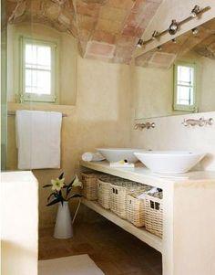 Ba os on pinterest bathroom sinks and rustic bathrooms - Muebles de obra para banos ...