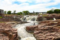 Every second an average of 7,400 gallons of water cascades 100 feet over the cours of the Falls of the Big Sioux River | Visit Sioux Falls