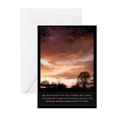 World belongs to you Greeting Card