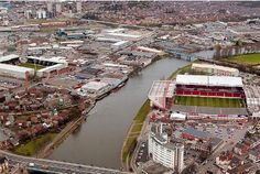 Notts County, left, and Nottingham Forest