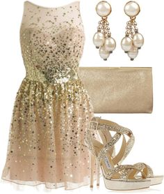 """""""Golden Glitter"""" by qtpiekelso on Polyvore"""