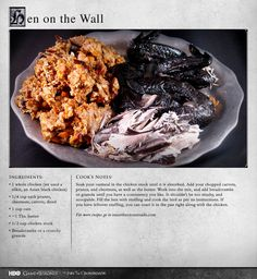 """Each flavor gets its own sort of showcase in your mouth, and each provides a nice, different texture from the others."" MORE RECIPES: http://itsh.bo/LQC1sC #gameofthrones #food #chicken #recipes"