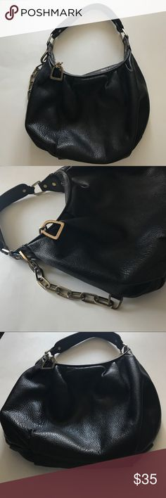 "Juicy Couture Handbag Leather in very good condition! Flaws are peeling on the inside pocket as seen on picture and little blemish on lining. The rest are very good! H12""XL10""XD3""strap drop 10"". Juicy Couture Bags Hobos"