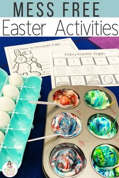 These easy low prep Easter activities and freebies are perfect for kindergarten, preschool, and first grade students. The STEM project, easy egg dying project, free CVC & CCVC egg hunts, and Easter s'mores will keep your students engaged while working on essential math and reading skills!