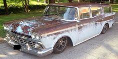 1959 Nash Rambler Cross Country Wagon by Gas Monkey Garage Gas Monkey Garage, Street Outlaws, Rusty Cars, American Motors, Abandoned Cars, Station Wagon, Old Trucks, Hot Cars, Rats