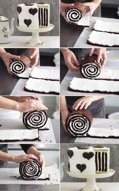Torta de pionono de chocolate