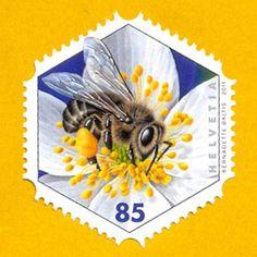 Bee Stamp - Switzerland