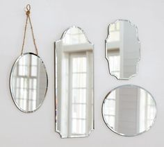 Eleanor Frameless Mirrors | Pottery Barn