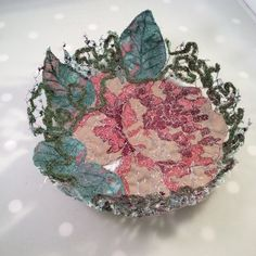 Vintage Rose Fabric Bowl £30.00