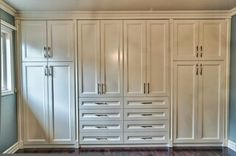 Wall to wall linen closets