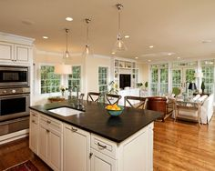 Open Kitchen And Family Room Design, Pictures, Remodel, Decor and Ideas
