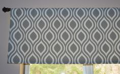 Custom Valance . Premier Prints Nicole Twill . Gray and White . Lined or Unlined . Handmade by Seams Original by SeamsOriginal on Etsy