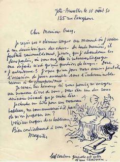René Magritte à Julien Gracq  août 1950